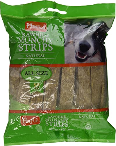 Hartz Munchy Rawhide Natural Strips 50 Pack