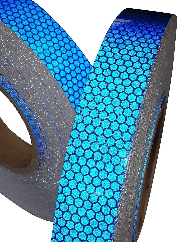 Tuqiang® Hoch Intensives Blau Reflektierendes Klebeband 25mm x 2.5m 1PC TQ-32041