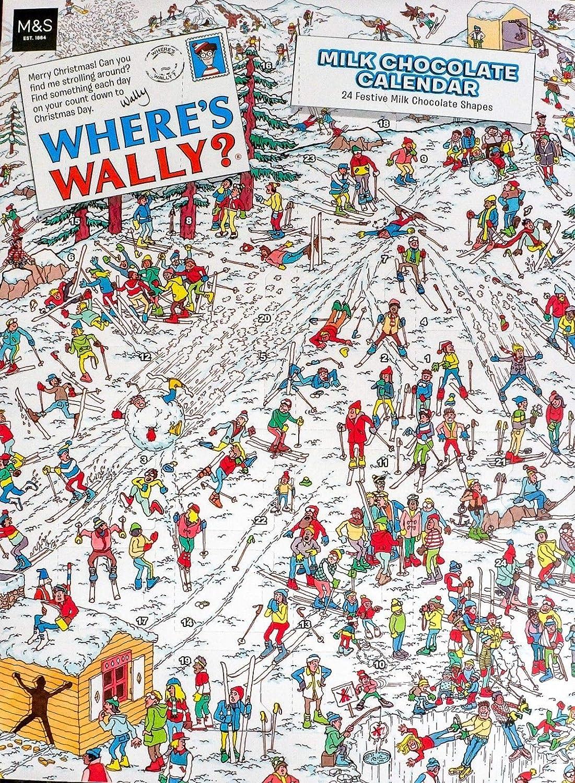 MS Where's Wally Chocolate Advent Calendar 100g M&S