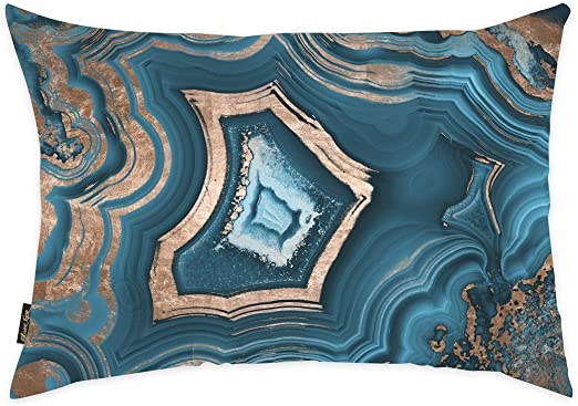 Amazon Com Abstract Decorative Throw Pillow Dreaming About You Geode Home Kitchen