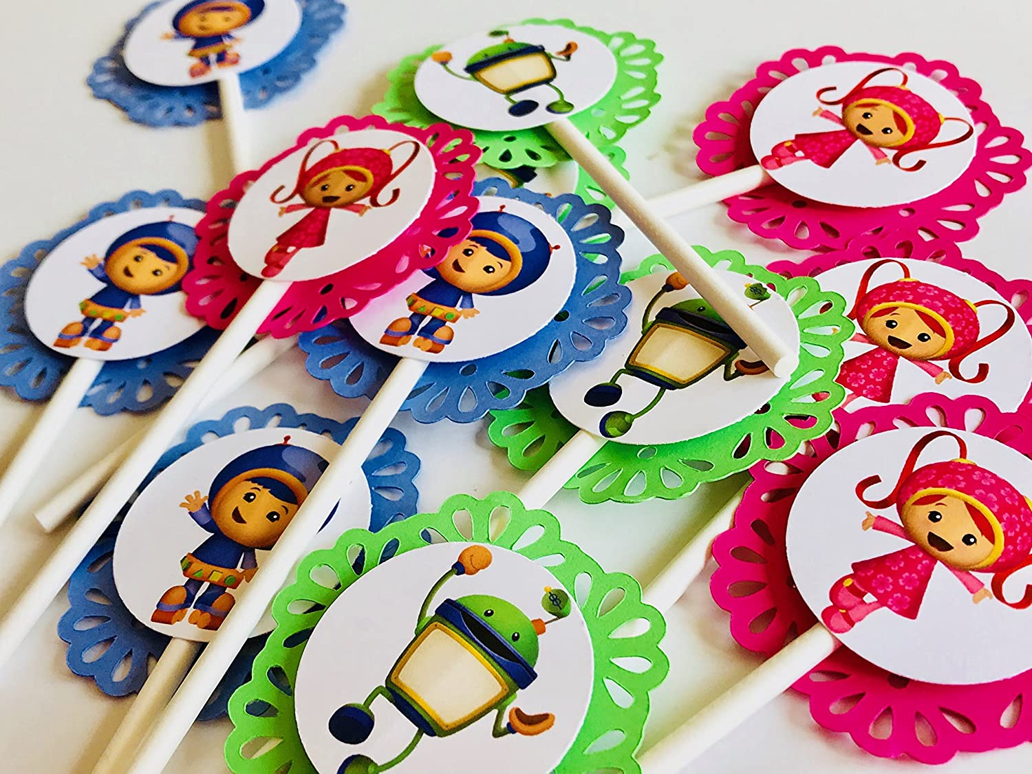 Swell 12 Team Umizoomi Cupcake Toppers Geo Nickelodeon Party Picks Bot Milly Personalised Birthday Cards Epsylily Jamesorg