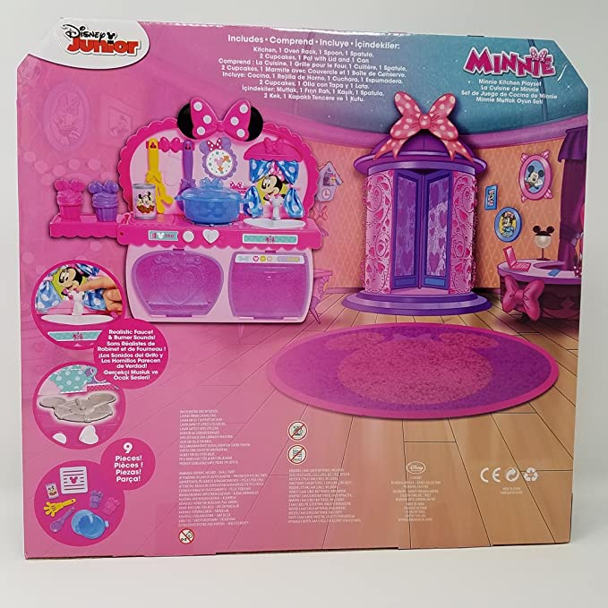 Amazon.com: Disney Collection MINNIE Kitchen Playset: Toys ...