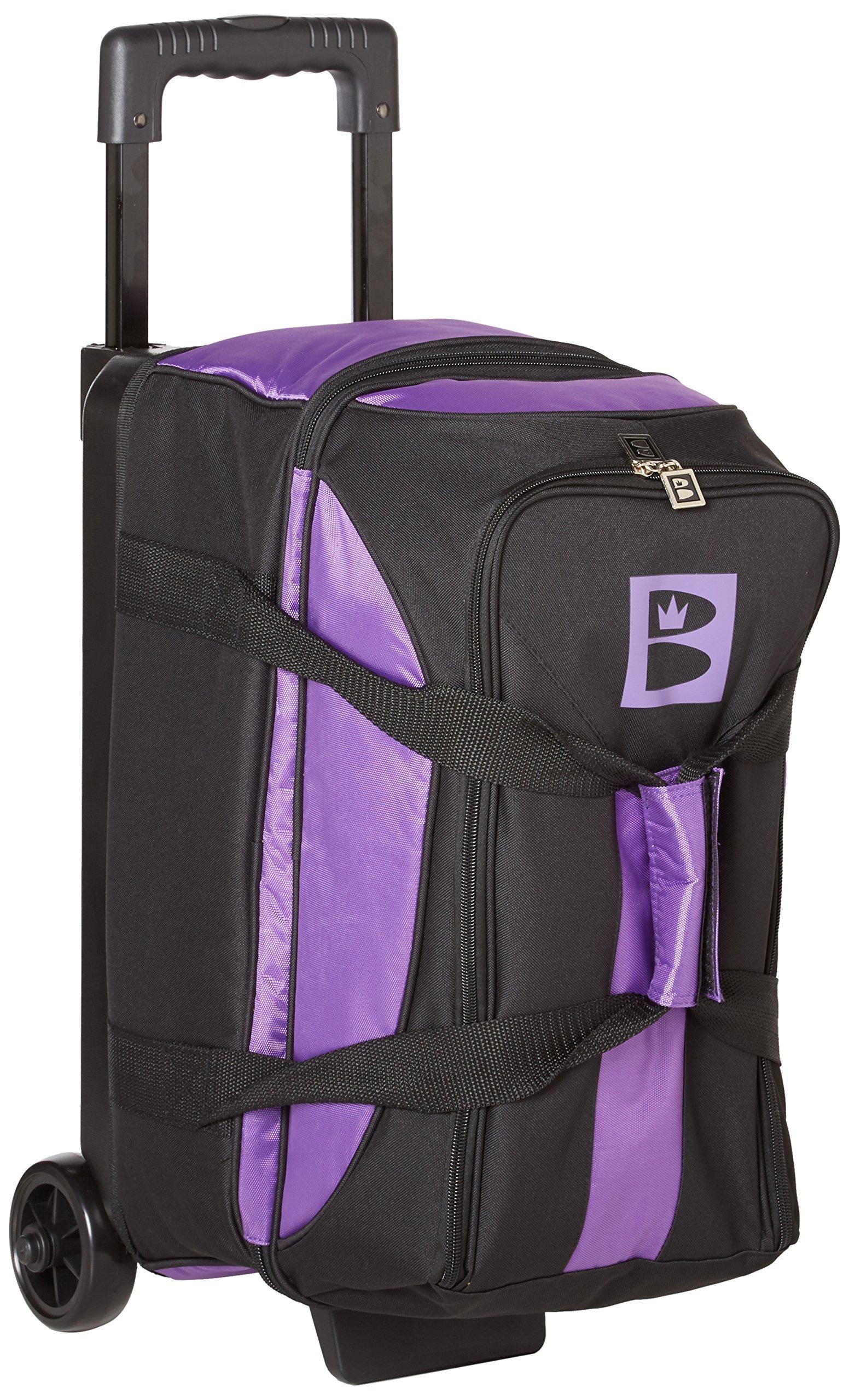 Brunswick Blitz Double Roller Bowling Bag, Purple by Brunswick