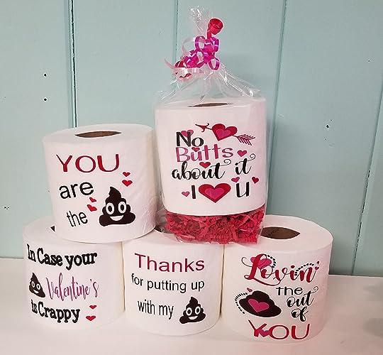 Romantic Toilet Paper Gag Gift