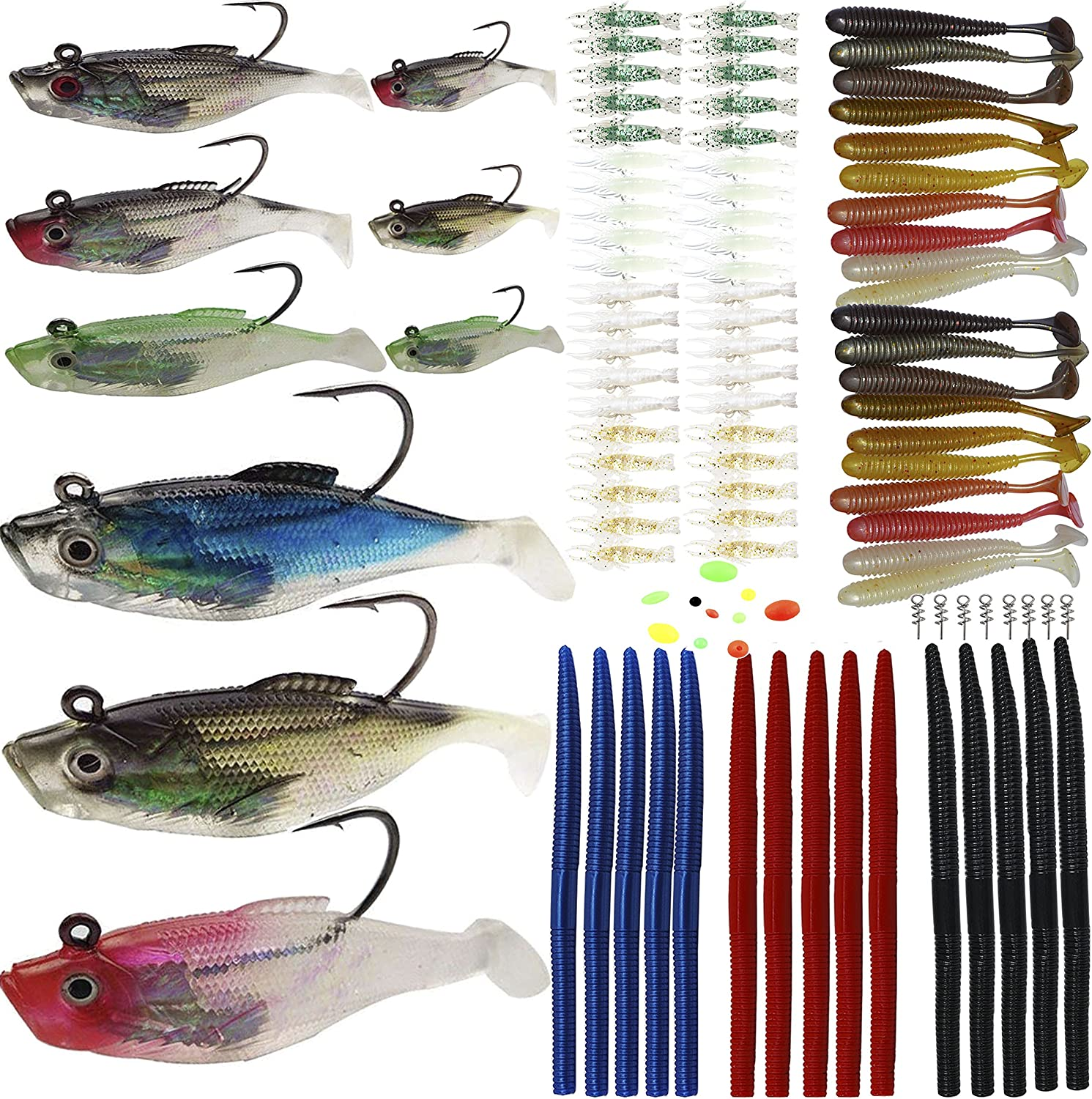 Fishing Soft Bait Lure Silicone Bass Bait Swimbait Accessories HS