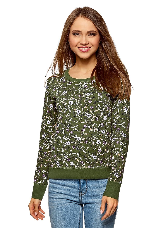oodji Ultra Womens Basic Printed Sweatshirt RIFICZECH s.r.o. 14807021-1
