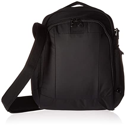 d3e472a88 PacSafe Metrosafe LS250 anti-theft shoulder bag Messenger Bag, 35 cm, 12  liters, Black (Black 100): Amazon.co.uk: Luggage