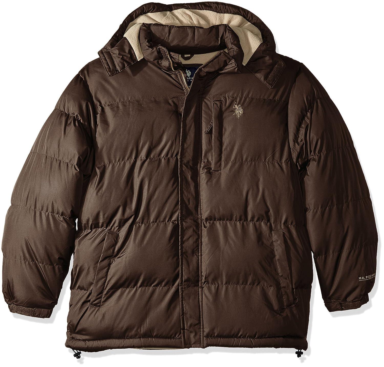 U.S. Polo Assn. Men's Standard Puffer Jacket with Polar Fleece Lining