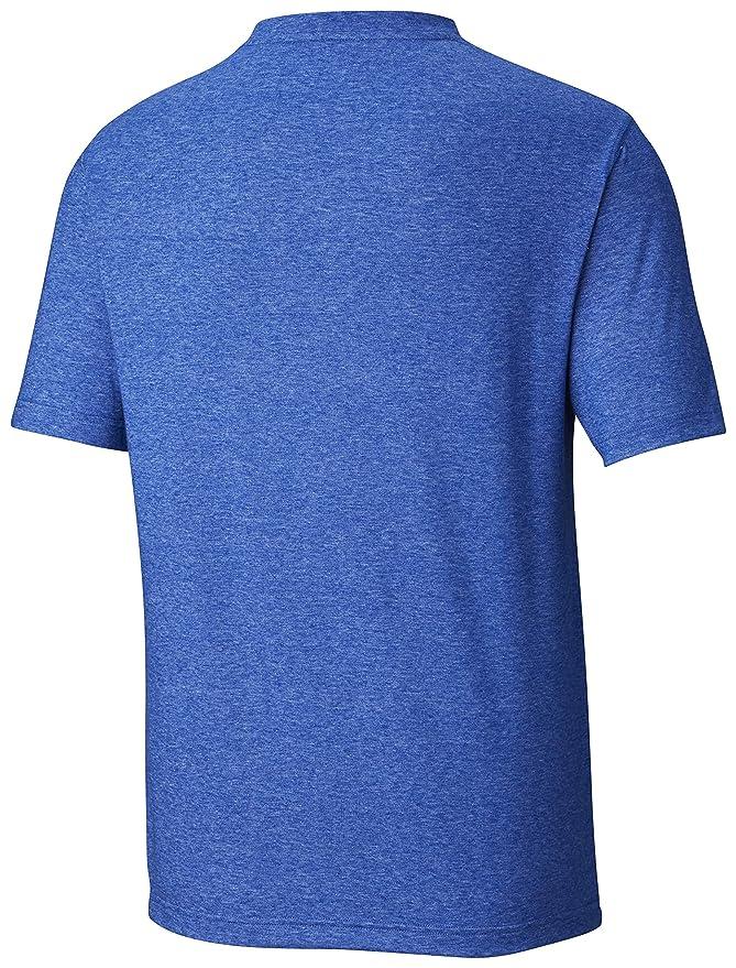 Columbia Thistletown Park Big & Tall Crew Camisa, Azul Heather, 1X ...