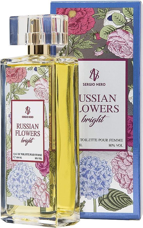 Imagen deRUSSIAN FLOWERS Agua de tocador (Eau de toilette) para Mujeres, 100 ml – FRAGANCIA Nueva de flores para Ella (BRIGHT)