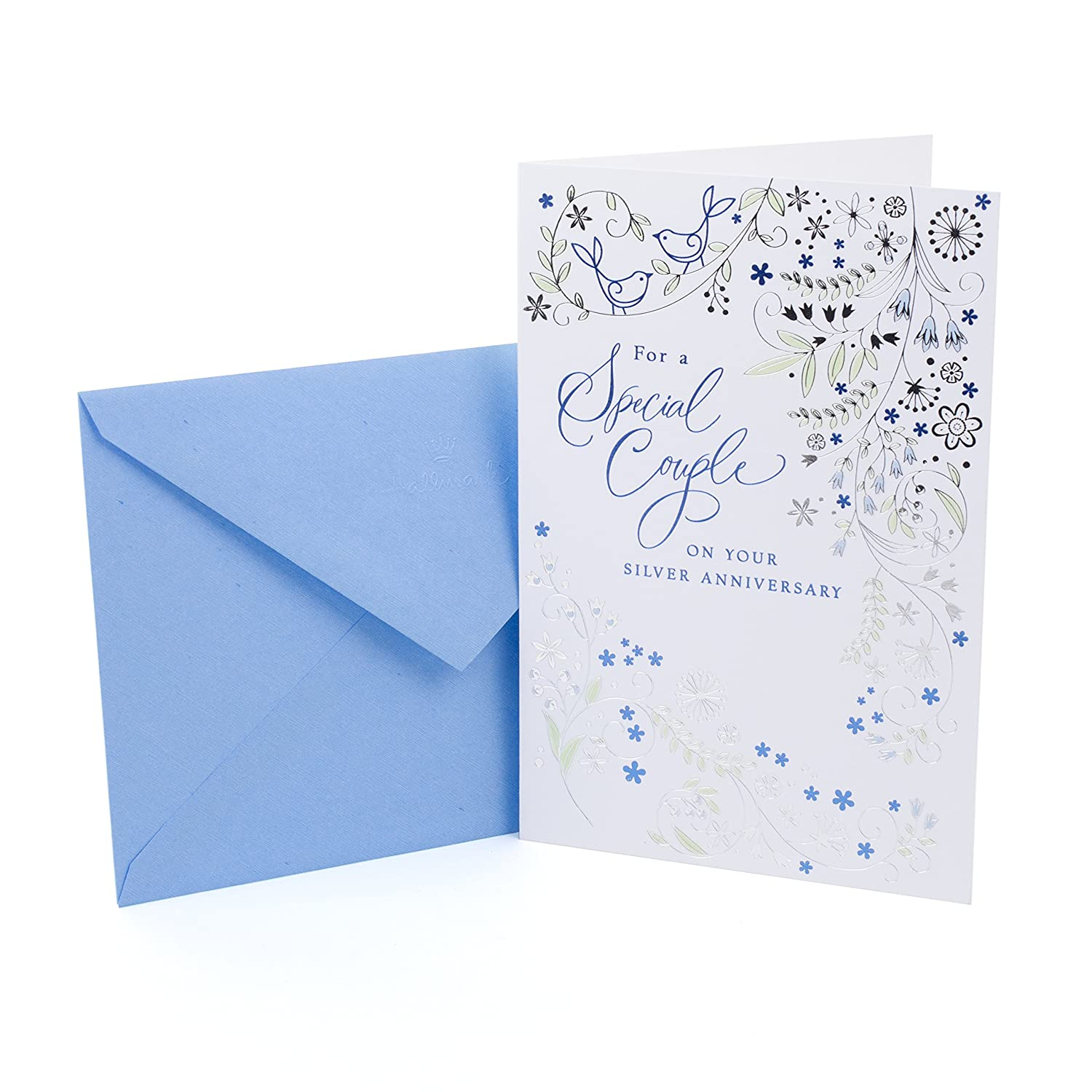 Amazon Hallmark 25th Anniversary Card Silver Wedding