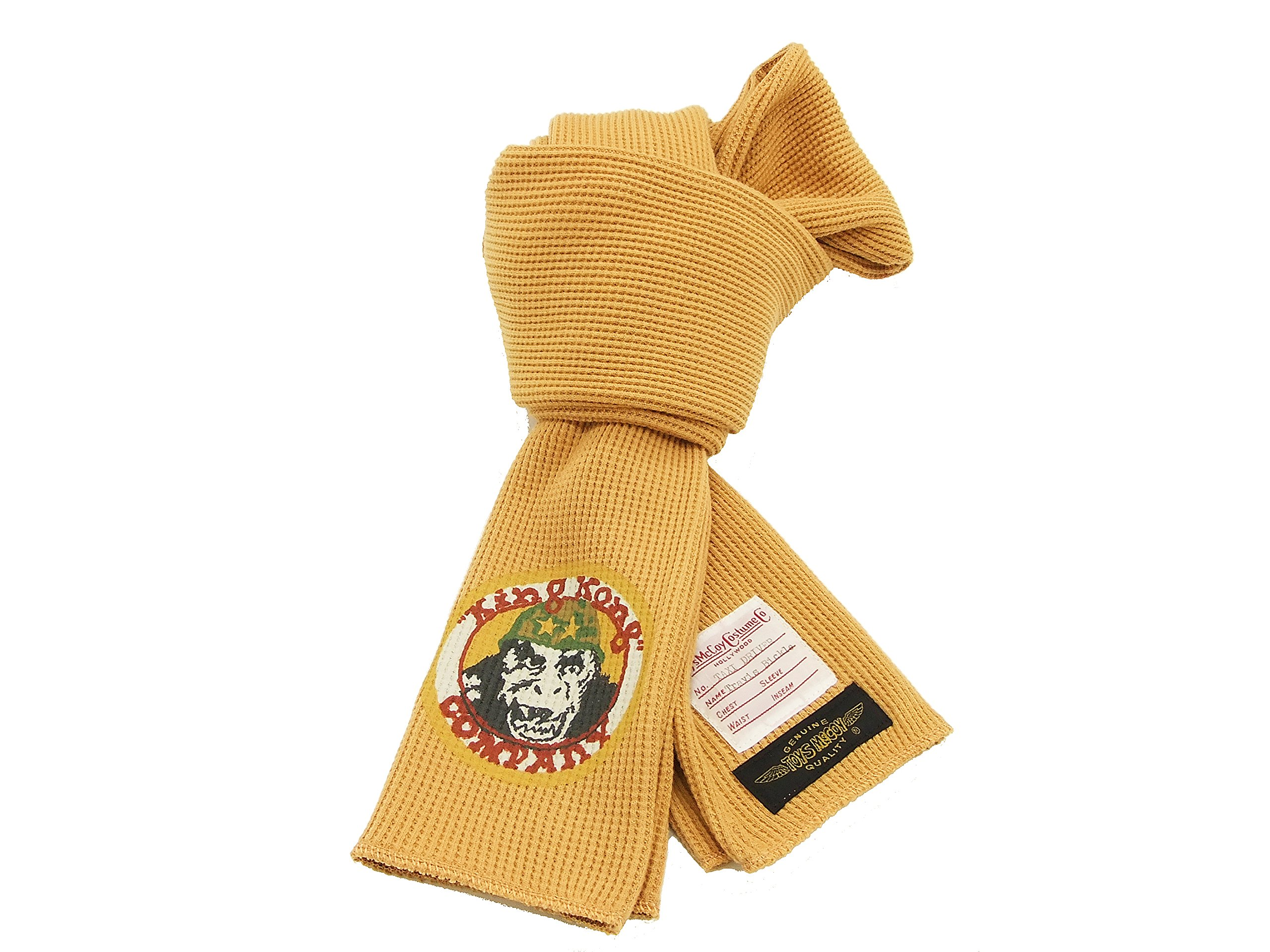 TOYS McCOY Men's Scarf Taxi Driver Waffle Thermal Scarf King Kong Company TMA1722 (One size, Gold)