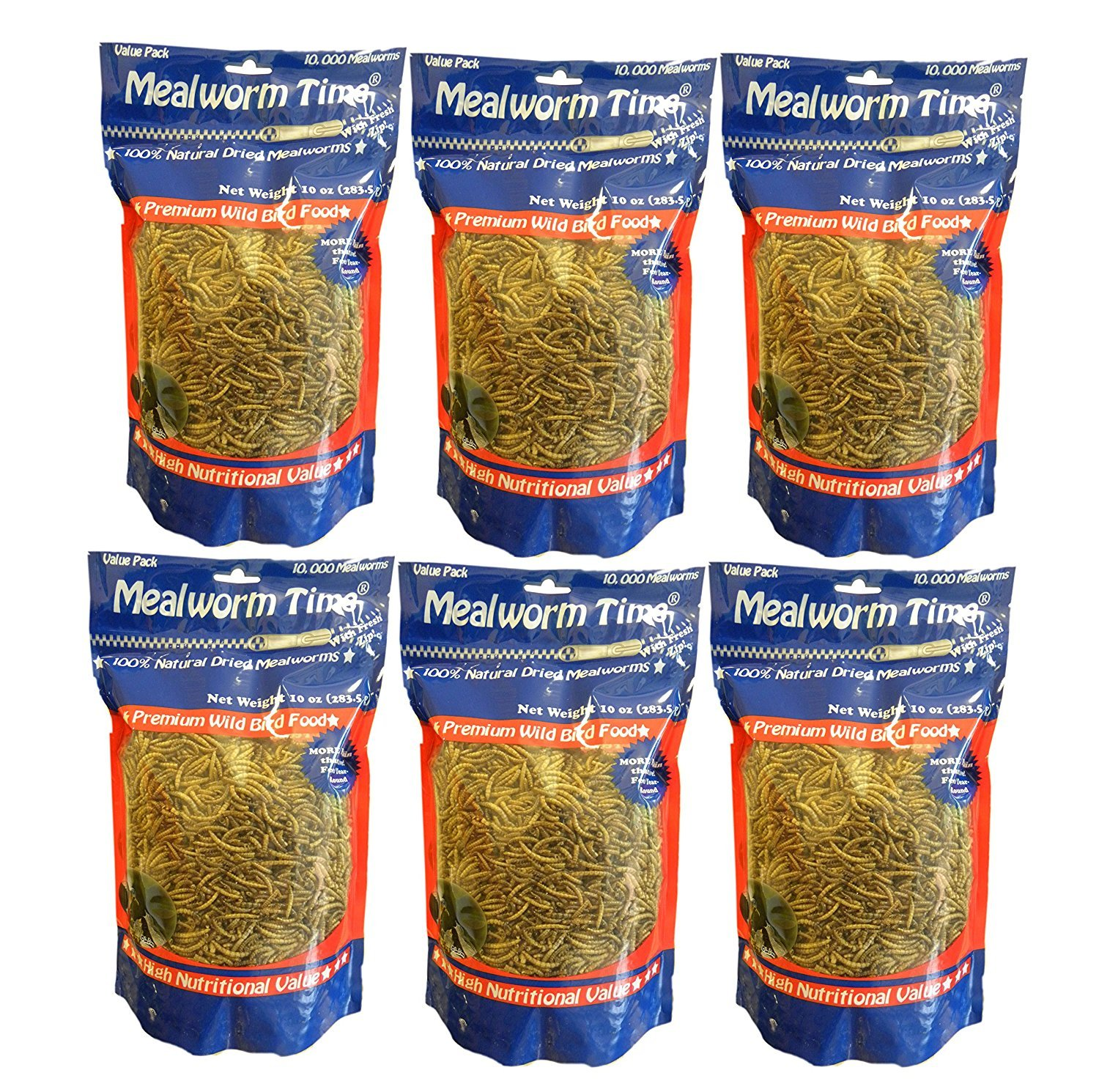 MealwormTime Dried Mealworms - 10oz (Case of 6)