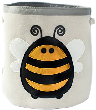 canvas storage bin for nursery or kids room animal theme collapsible great for play baby nursery cool bee animal
