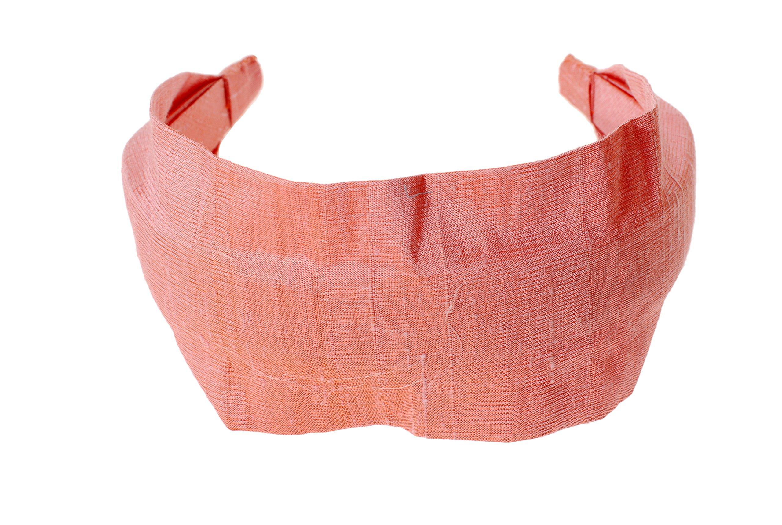L. Erickson USA Scarf Headband - Silk Dupioni Icing