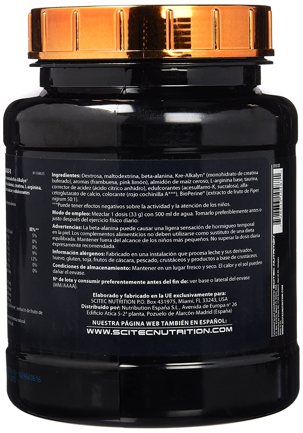 Amazon.com: Scitec Nutrition Alkaly-X - Raspberry Lemonade: Health & Personal Care