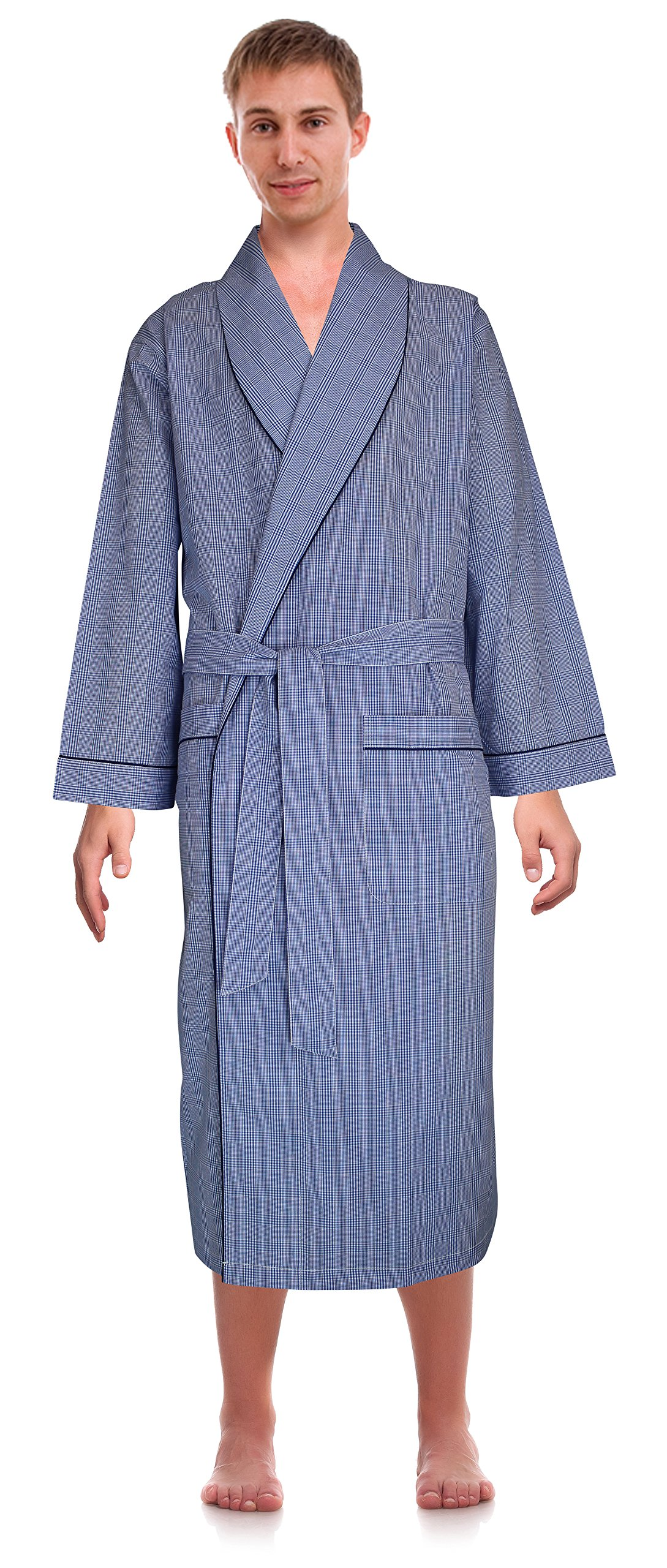 Robes King Classical Sleepwear Men's Woven Shawl Collar Robe, Size 2X Extra Large 3X Extra Large