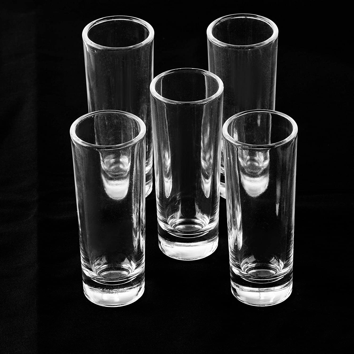 Parfaits Tequila 2 Ounces Vodka Whiskey Juvale Bulk 24-Pack Clear Shooters Tall Shot Glasses for Parties Dessert