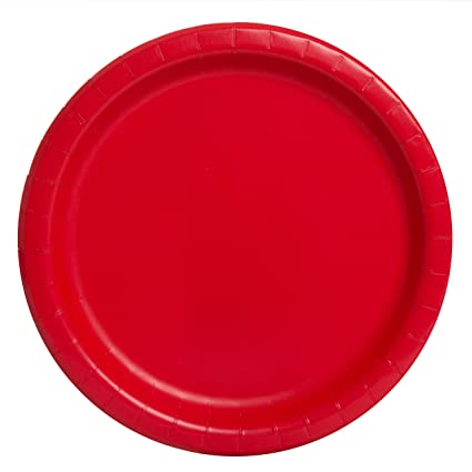 Red Paper Plates 16ct  sc 1 st  Amazon.com & Amazon.com: Red Paper Plates 16ct: Party Plates: Kitchen u0026 Dining