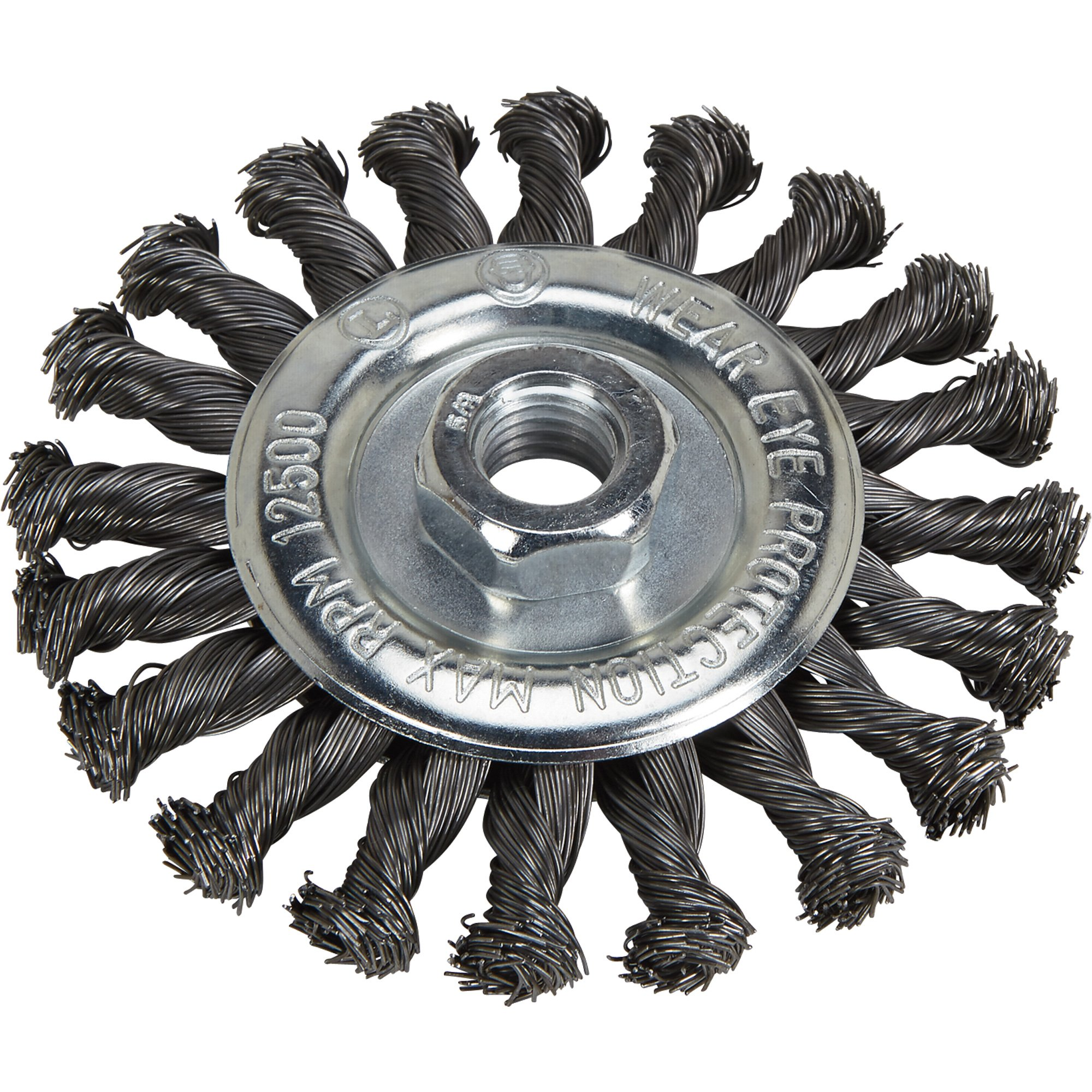 Klutch 4.5in. Twisted Knot Wire Wheels - 5-Pk.