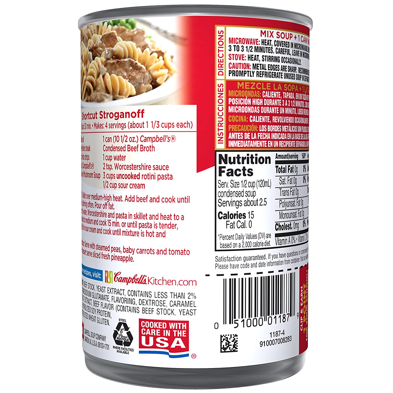 Campbells Beef Broth, 10.5 oz (Pack of 2)