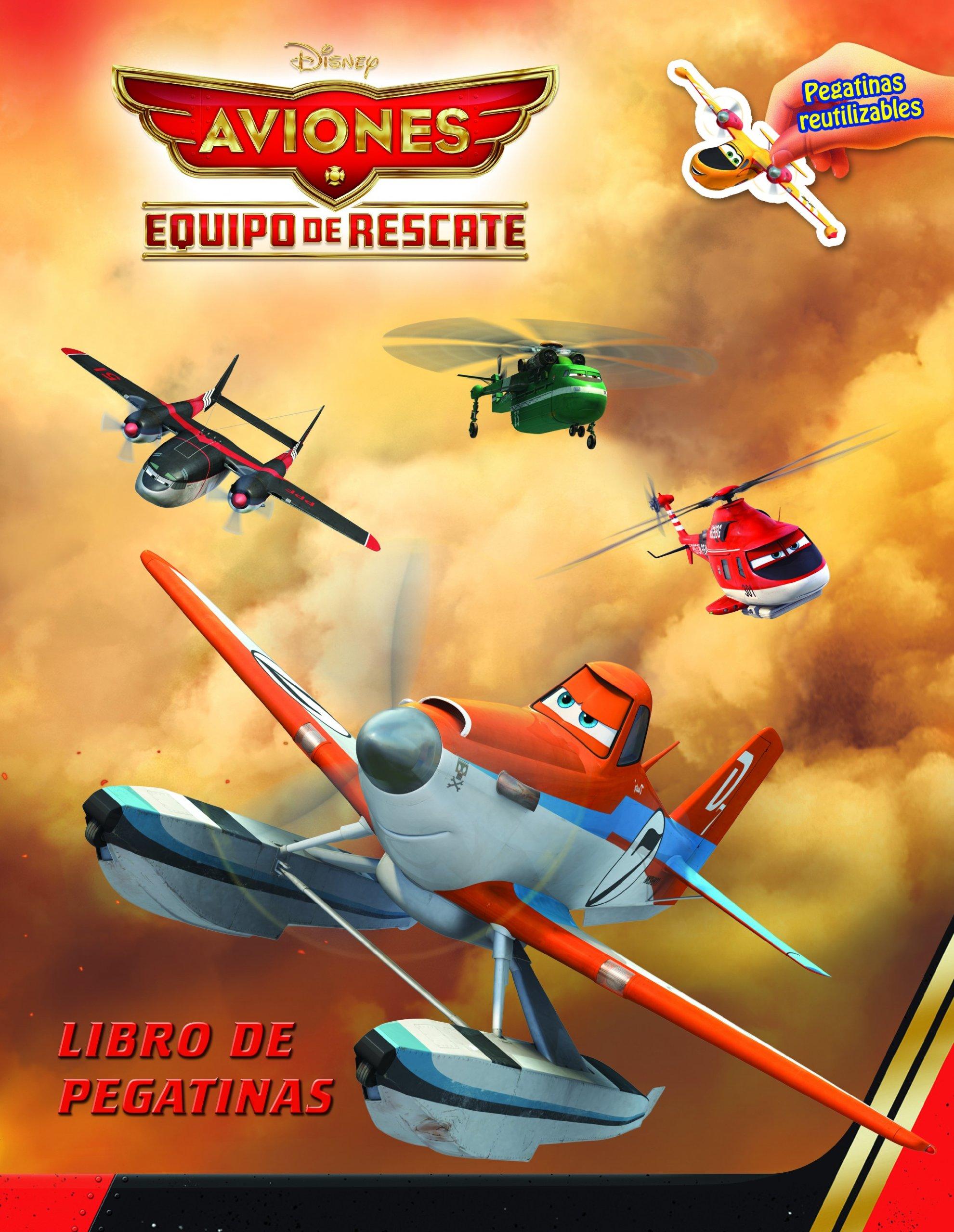 Aviones. Equipo de rescate. Libro de pegatinas: Con pegatinas reutilizables Disney. Aviones: Amazon.es: Disney: Libros