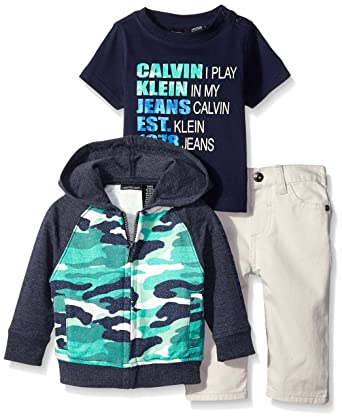 9f443ad1c212 Calvin Klein Baby Boys  Hooded French Terry Jacket