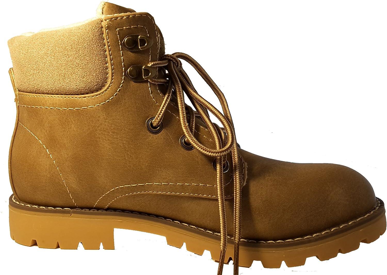 3-W-Hohenlimburg , Chaussures de randonnée Montantes pour Femme Hellbeige Braun