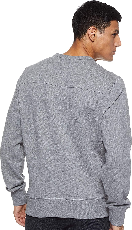Calvin Klein Jeans Monogram Sleeve Badge CN Sweater Homme Gris Chiné Moyen/ Noir