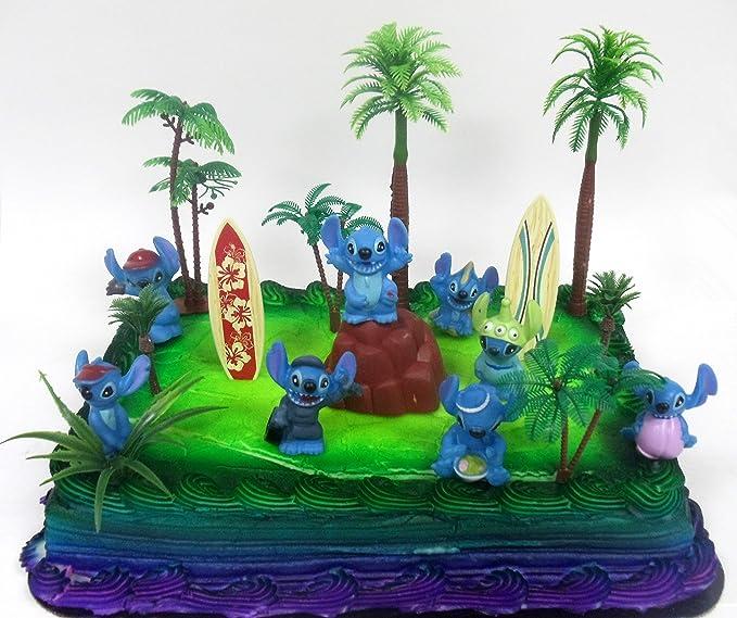 Amazon Lilo And Stitch 15 Piece Birthday Cake Topper Set