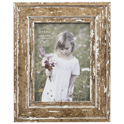 Amazon.com: Prinz 4x6 Old Mill Distressed White Wood Frame: Home ...