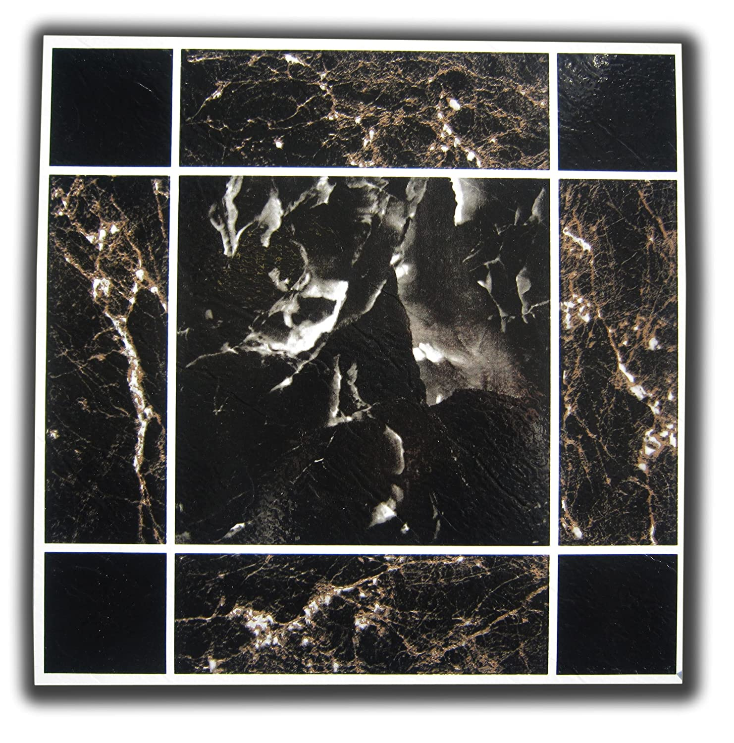 50 vinyl floor tiles blackbrown marble self stick amazon 50 vinyl floor tiles blackbrown marble self stick amazon diy tools dailygadgetfo Choice Image
