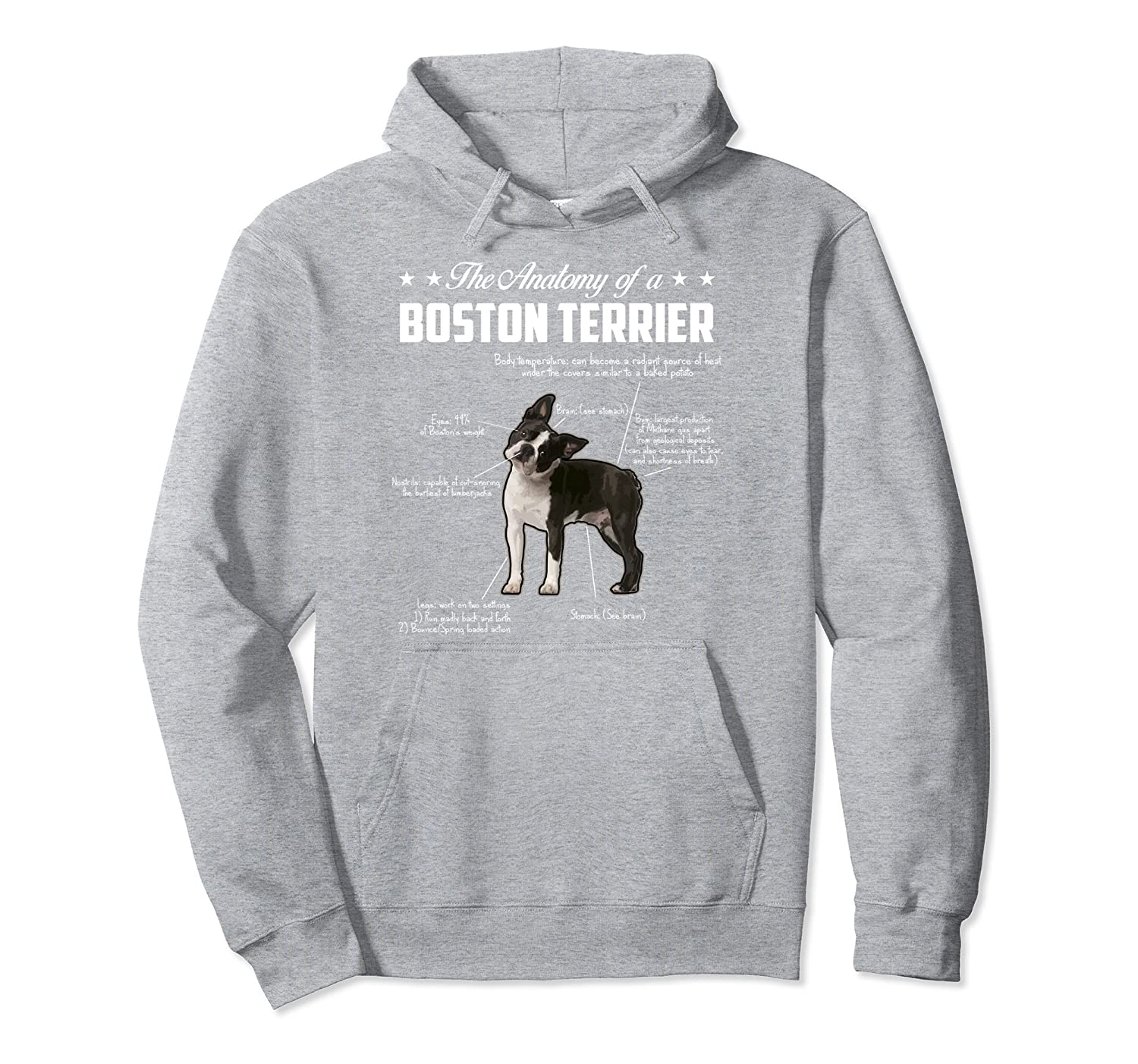 Amazon.com: Cool Boston Terrier Shirt Funny Boston Terrier Anatomy ...