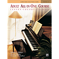 Alfred's Basic Adult All-in-One Course, Book 1: Learn How to Play Piano with Lesson, Theory and Technic: Lesson, Theory… book cover