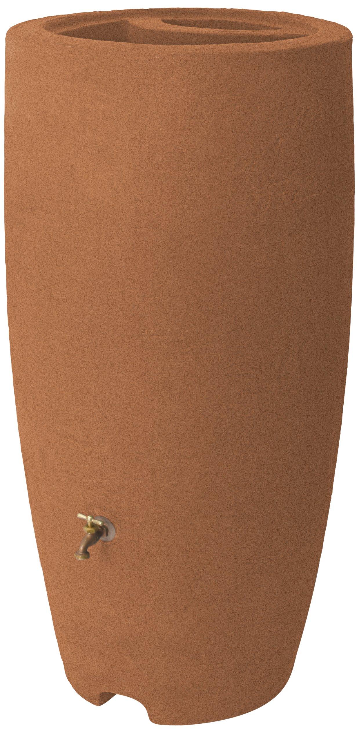 Algreen Products Athena Rain Barrel 80-Gallon, Terra Cotta