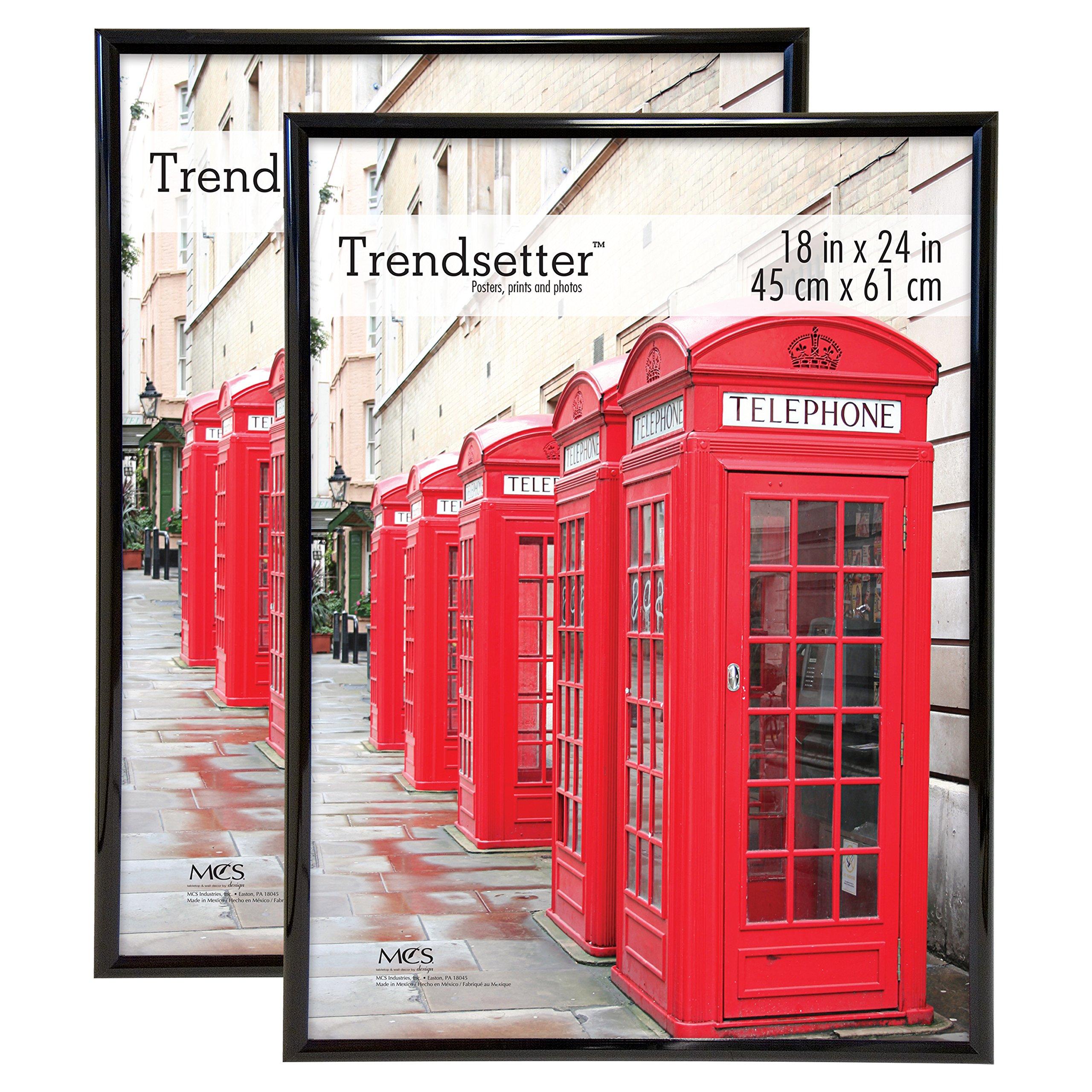 MCS Trendsetter 18x24 Inch Poster Frame (2pk), Black (65753) by MCS
