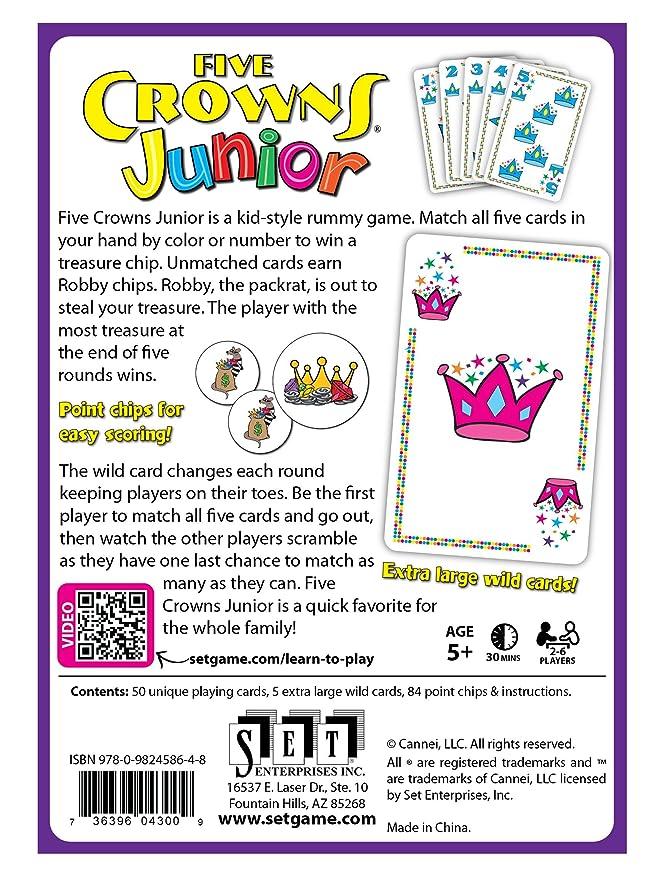 Amazon Set Enterprises Five Crowns Junior Card Game Toys Games