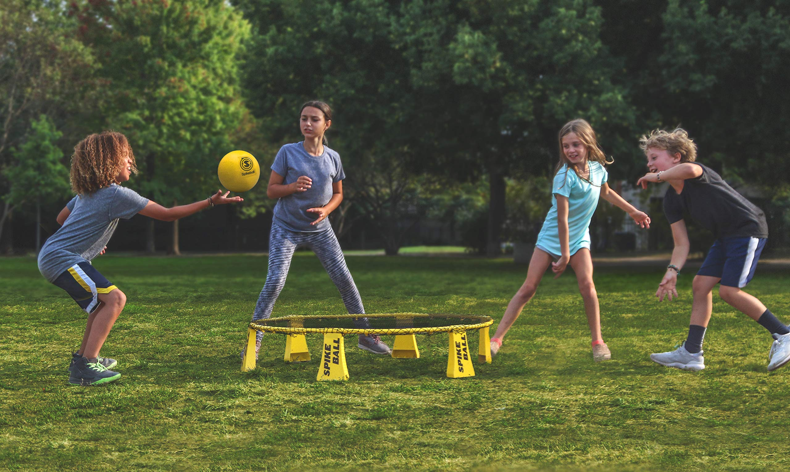 Spikeball Starter Kit - 50% Larger Net and Ball - Played Outdoors, Indoors, Yard, Lawn, Beach - Designed for Kids 12 and Under by Spikeball (Image #4)