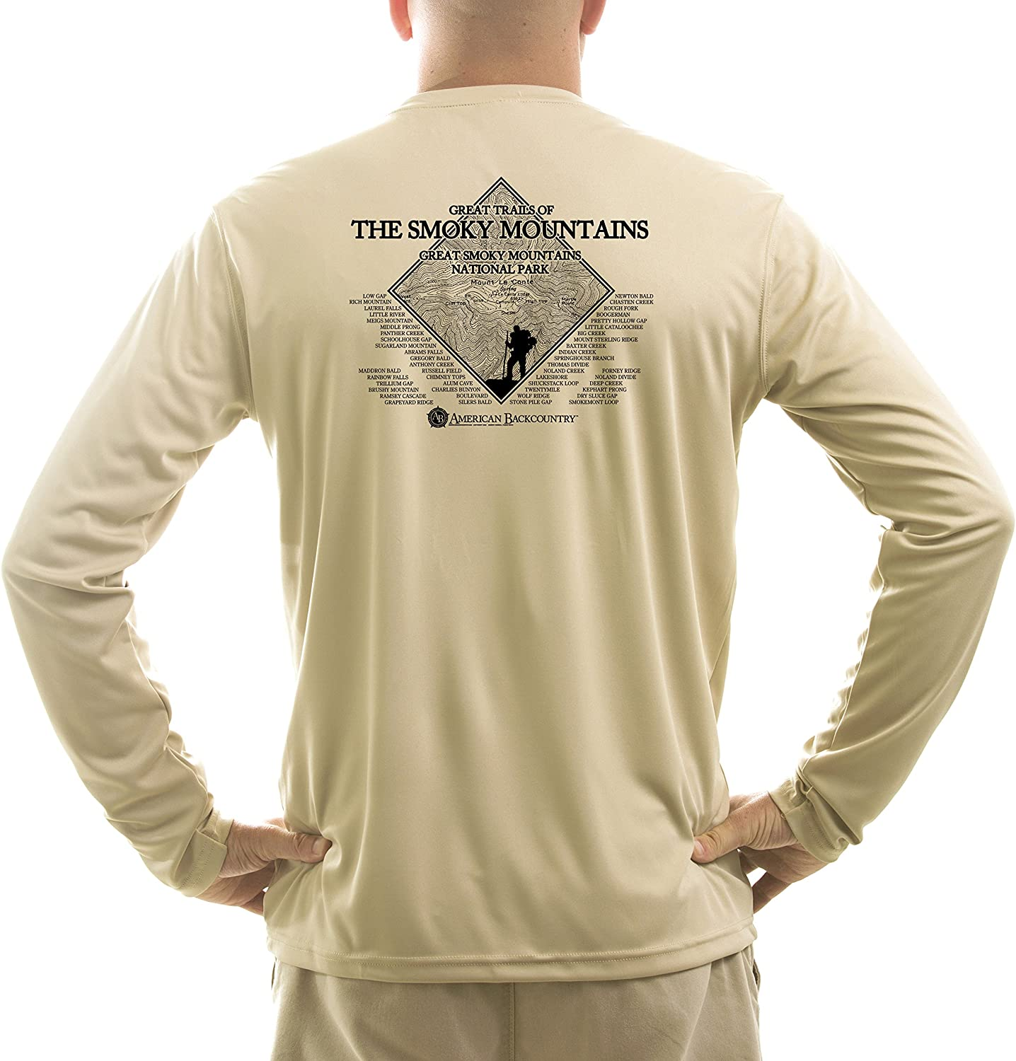 Long Sleeve T-shirt American Backcountry Mens Clingmans Dome UPF 50