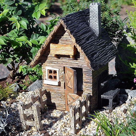 Miniatura Jardín de hadas al aire libre cobertizo con valla: Amazon.es: Hogar
