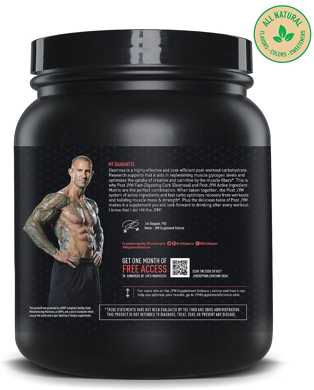 JYM Supplement Science, POST JYM Fast-Digesting Carb, Post-Workout Powder, Natural Lemon Lime, 30 Servings