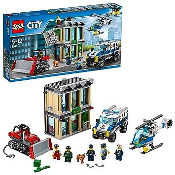 Lego City Huida Con Bulldozer 60140 Juego De Construccion