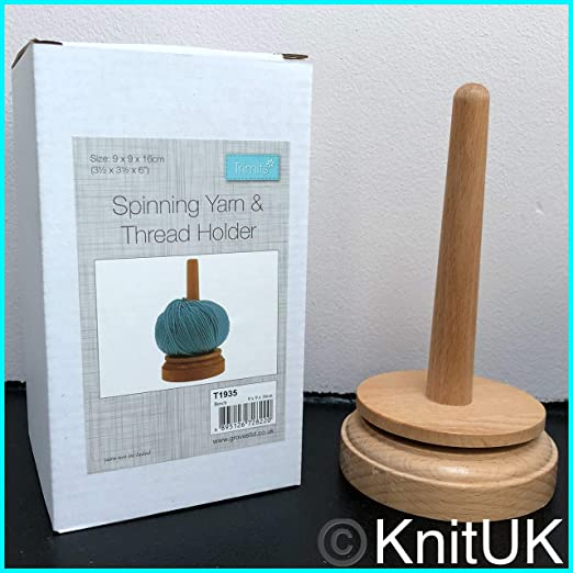 Classic Knit Portaovillos Hilos y ovillos, Soporte de Madera marrón, 10 x 9,5 x 17 cm: Amazon.es: Hogar