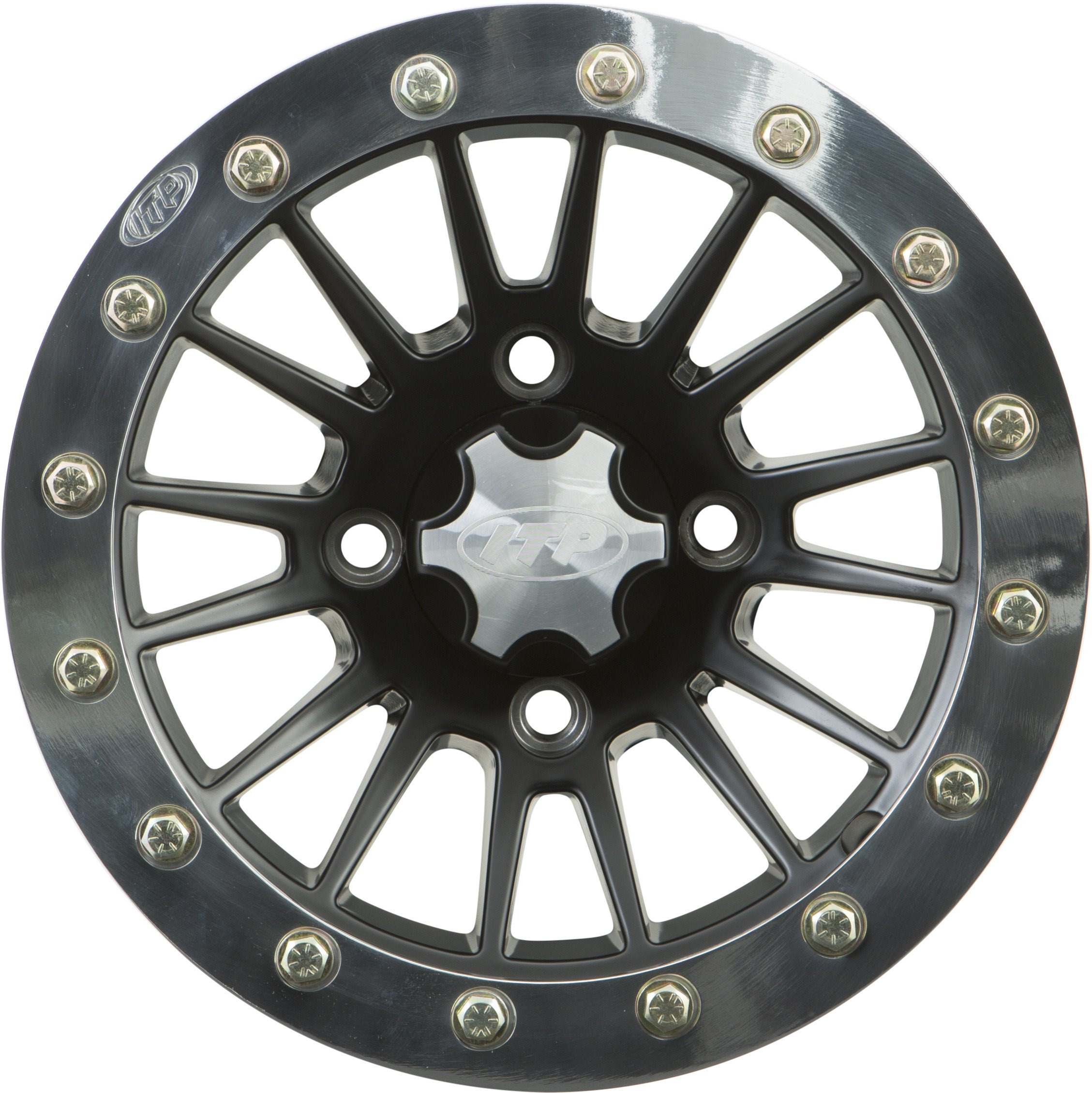 ITP SD Beadlock Machined/Matte Black ATV Wheel Front/Rear 14x7 4/156 - (4+3) by ITP (Image #1)