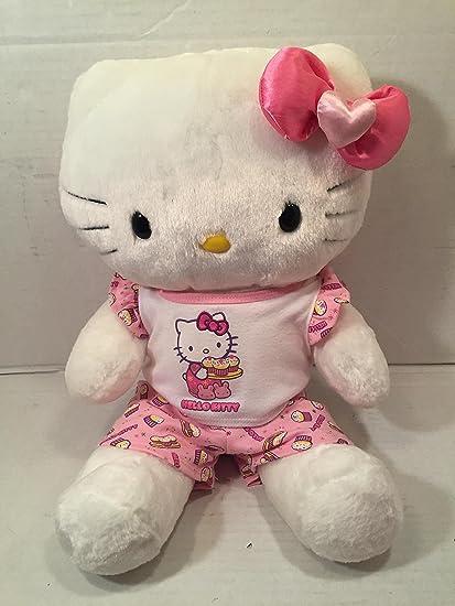 7486103da Amazon.com: Build a Bear Hello Kitty Large White 18 in. Stuffed Plush HK  Sanrio Toy Animal: Toys & Games