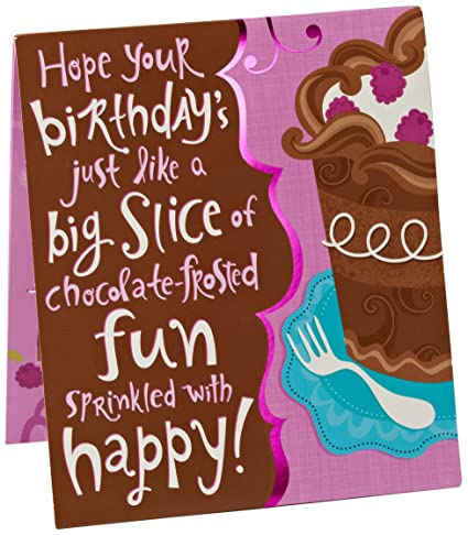 Amazon american greetings pop up birthday card with virtual american greetings pop up birthday card with virtual candles chocolate birthday cake with blow sensor m4hsunfo