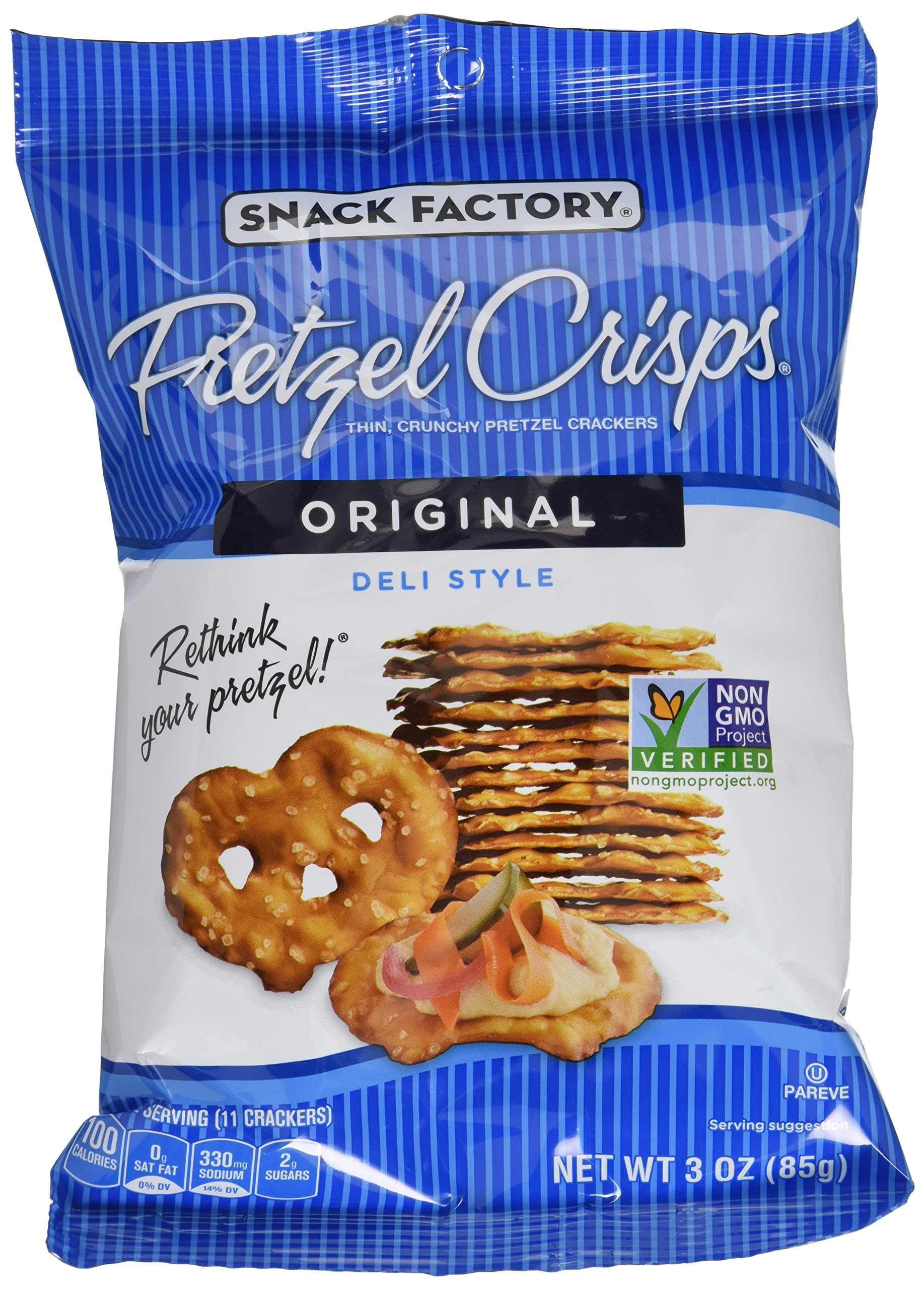Snack Factory Pretzel Crisps - Original - 3 oz. - 8 ct