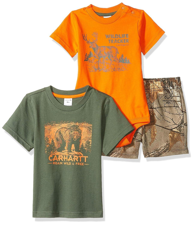 Carhartt Baby Boys 3-Piece Short Clothing Set