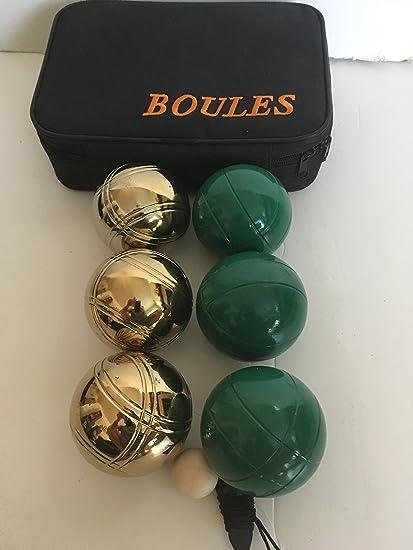 Amazon.com: 73 mm metal/bolas de petanca 6 bolas de juego de ...