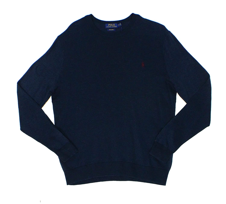 ec512cbee9a Polo Ralph Lauren Mens Knit Ribbed Trim Crewneck Sweater at Amazon Men s  Clothing store